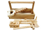 Qtoys Natural Wooden Carry Tool Set