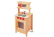 Double Sided Wooden Toy Kitchen (Natural)