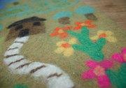 Wool kids play mat