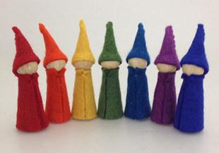 Rainbow Gnomes Set Of Seven