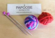 Kids Bamboo Knitting Kit With Wool