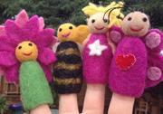 Papoose Garden Felt Finger Puppets