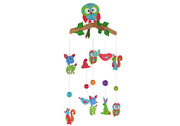 Owl Baby Wooden Mobile