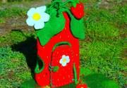 Strawberry Felt Fairy Home