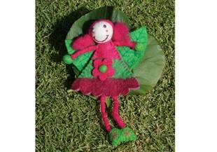 Miss Queen Flower Fairy Pure Wool Handmade