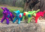Colourful Handmade Felt Unicorn Toy