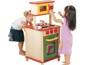 Double Sided Wooden Toy Kitchen