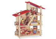 Blue Ribbon Multi Level Eco Wooden Dollhouse