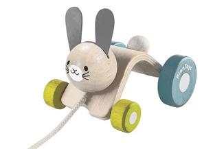 Plan Toys Hopping Rabbit Pull Along Toy