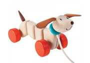 Plan Toys Wooden Pull Along Puppy