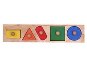 Shape Knob Wooden Puzzle