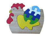 Wooden Chicken Jigsaw Puzzle
