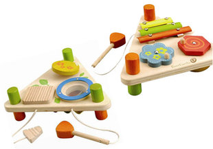EverEarth Wooden Musical Triangle Flip Toy