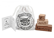 Wooden toy story message blocks