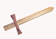 Wooden play sword