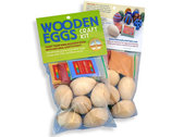 Wooden Easter eggs to paint