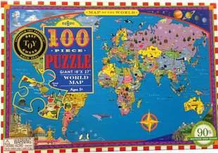 Around the World 100 Piece Puzzle