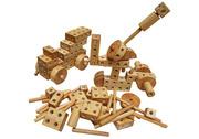 Wooden construction blocks
