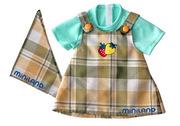 Miniland Doll pinafore dress