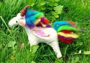 Rainbow felt unicorn