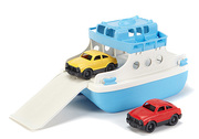 Green toys ferry with two mini cars