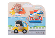 Everarth Wooden Peg Vehicle Puzzle
