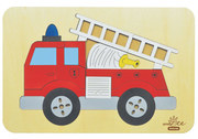 AndZee Naturals Red Fire Truck Puzzle