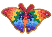 Butterfly Number Jigsaw Puzzle