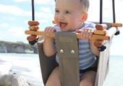baby toddler swing taupe