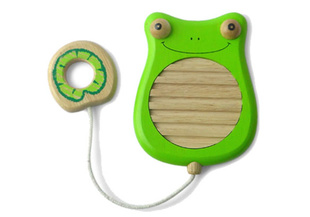 Scratchy Frog Musical Toy