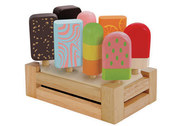 I'm Toy Pretend Play Ice Cream Set Of Eight Wooden