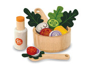 I'm Toy Pretend Play Wooden 15 Piece Salad Set